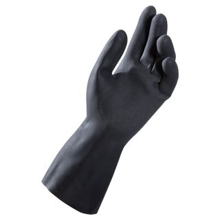 MAPA / Latex gloves Alto Plus 260, cotton dusting, size 9 (L), black