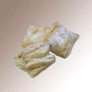 "Puff ""Konvertik"" with cottage cheese and raisins"