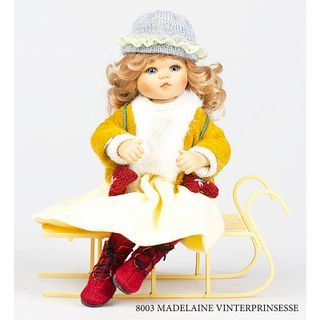 Birgitte Frigast / Porcelain Doll Madelaine Princess of Winter, 18 cm