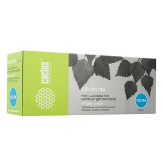 Toner cartridge CACTUS (CS-CE270A) for HP ColorLaserJet CP5525, black, yield 13500 pages.