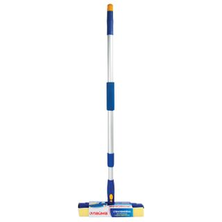 LIMA / Rotating glass washer, telescopic handle, working part 25 cm (tie, sponge, handle), for home and office