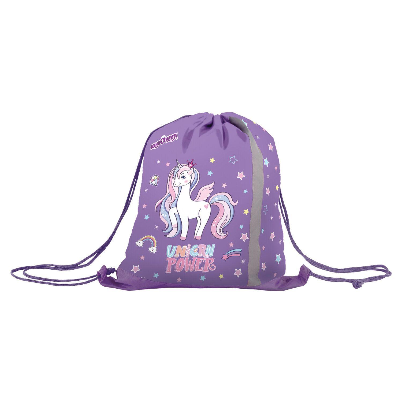 "Bag for shoes INLANDIA, reflective strip, 47х37 cm ""Unicorn power"""