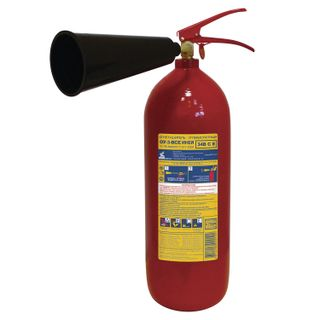 FROST / Carbon dioxide fire extinguisher OU-3, VSE (liquid and gaseous substances, electrical installations)