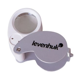 LEVENHUK Zeno magnifier Gem M5, X40 magnification, lens diameter 25 mm, illuminated, foldable, metal