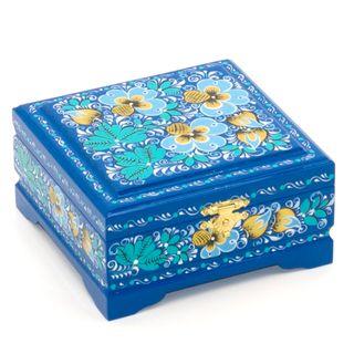 "The box ""Blue flowers"" is wooden 120х115"