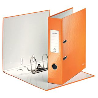 Folder-Registrar LEITZ, the mechanism 180°, coating plastic, 80 mm, orange