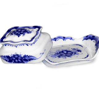 Oiler Astra 2nd grade, Gzhel Porcelain factory