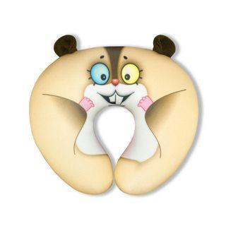 "Anti-stress neck pillow tourist ""Zoo"" 6(Hamster)"