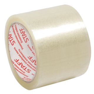 Packing adhesive tape 72 mm x 66 m, transparent, 40 microns thick, STAFF
