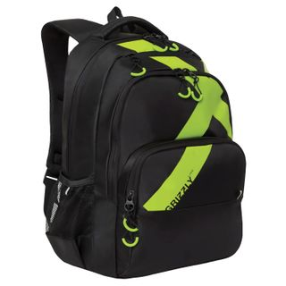 GRIZZLY youth backpack, 2 compartments, black,