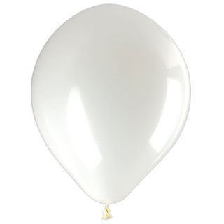 """GOLDEN FAIRY TALE / Balloons 10 """"(25 cm), SET of 50 pieces, white, package"""