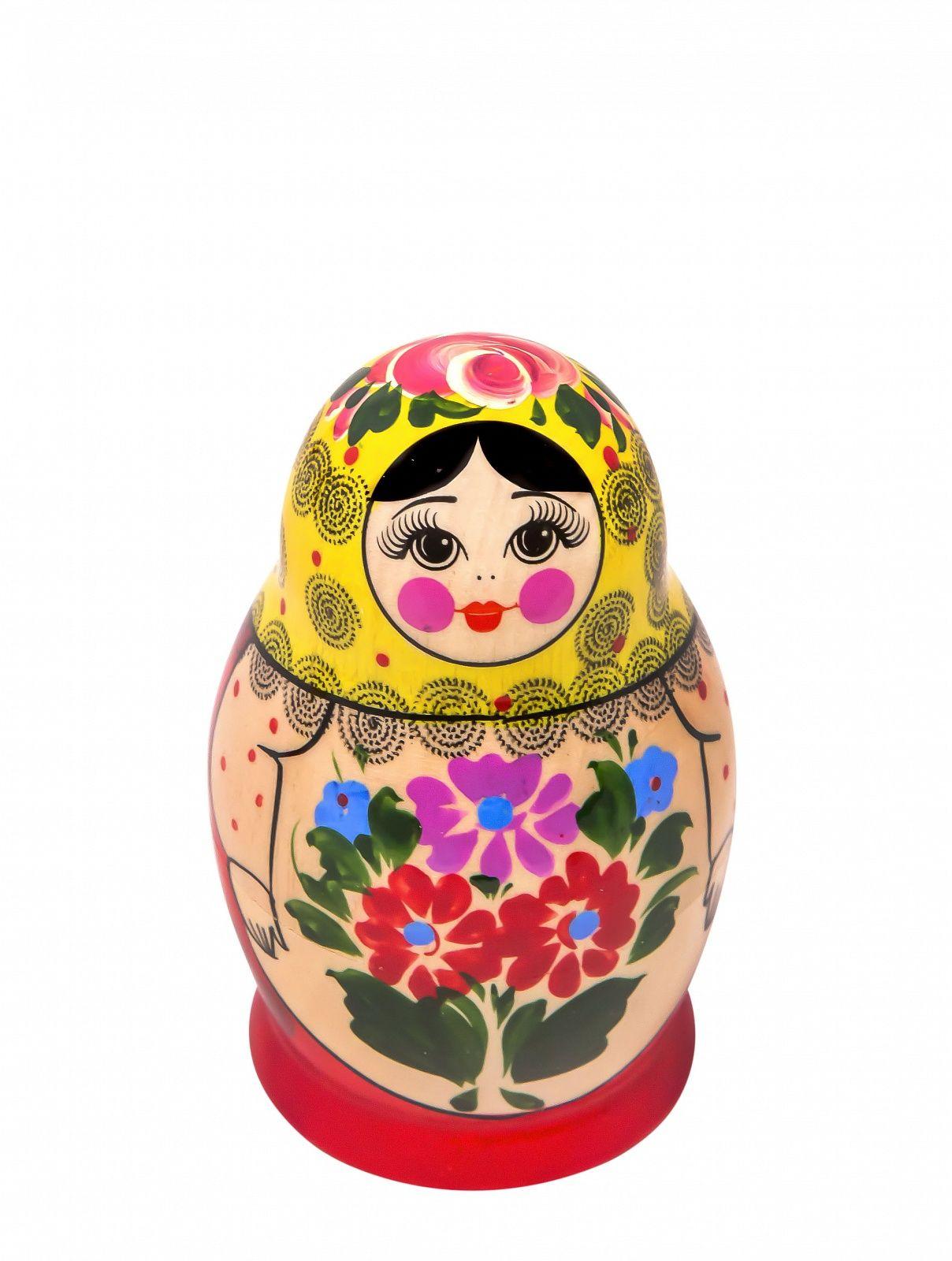 """Khokhloma painting / Matryoshka """"Maria"""" 5 dolls"""