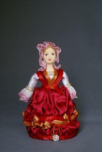 Souvenir doll box. French. Height 17 cm