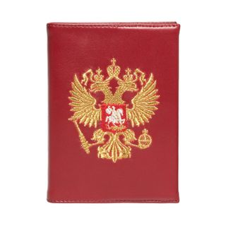 "Diary ""eagle"" Burgundy with gold embroidery"