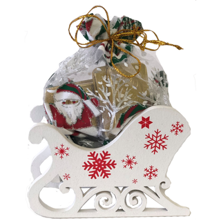 """New Year's gift Sleigh """"Snowflakes"""" + a set of chocolates 150g."""
