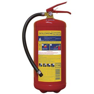 MIG / Powder fire extinguisher OP-8, ABCE (solid, liquid, gaseous substances, electrical installations)