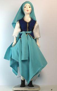 Doll gift. Jewish girl in dance costume