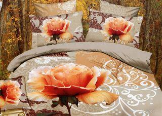 Linen Satin 3D Rose Queen