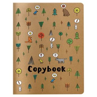 """Notebook EURO A5 40 sheets BV stitching, cage, Soft Touch, beige paper 70 g / m, """"DREAM FOREST"""""""