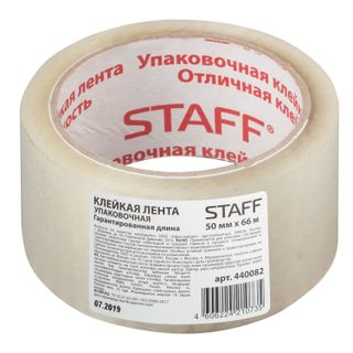 STAFF / Transparent packing tape 50 mm x 66 m, thickness 40 microns