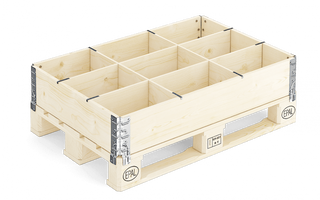 The separator 9 cells for collapsible container