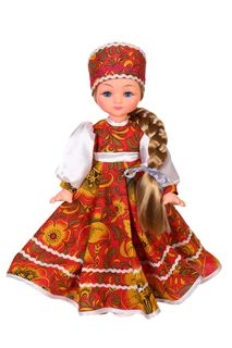 Vasilina Khokhloma doll in the cortex of 45 cm