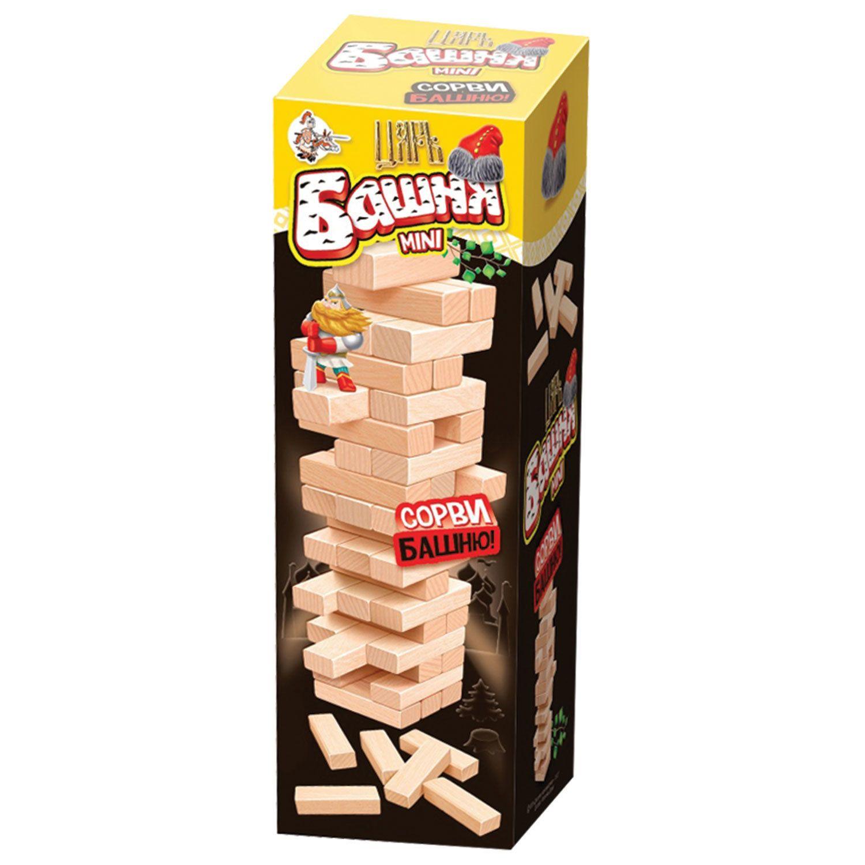 "Game board ""King Tower mini"", unpainted wooden blocks, 10 KINGDOM"