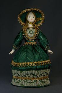 Doll gift porcelain. European suit. 19th century.