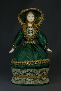 Doll gift porcelain. European suit. 19th century.