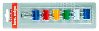 The holders 25 mm, 6 pieces, assorted color, blister