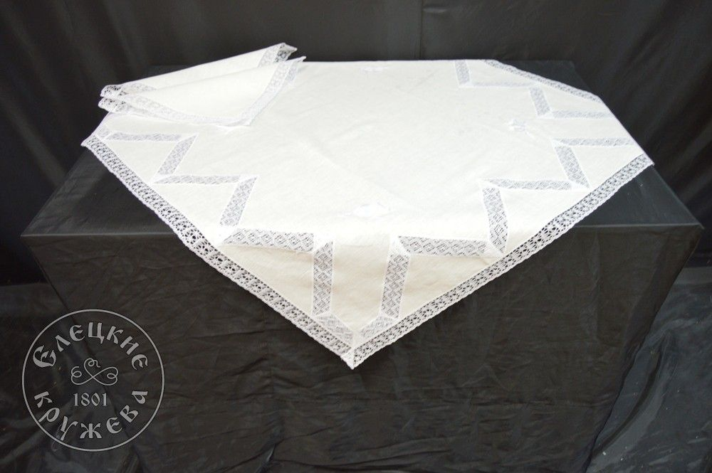 "Yelets lace / Table set ""Tablecloth and napkins"" С830"