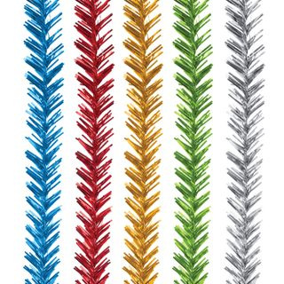 Tinsel No. 1/1, 1 piece, diameter 20 mm, length 2 m, assorted 5 colors