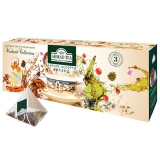 """AHMAD / Tea """"Weekend Collection"""", 3 flavors, pyramids, set of 60 pyramids, 1.8 g each"""