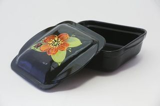 Square small baking container with handles