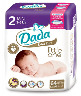 Baby diapers DADA EXTRA CARE MINI (cat. 64 pieces) 3-6 kg, № 2