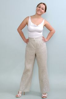 Pants womens linen 9-91