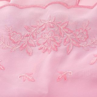 "Scarf ""Golden celebration"" rose color with silk embroidery"