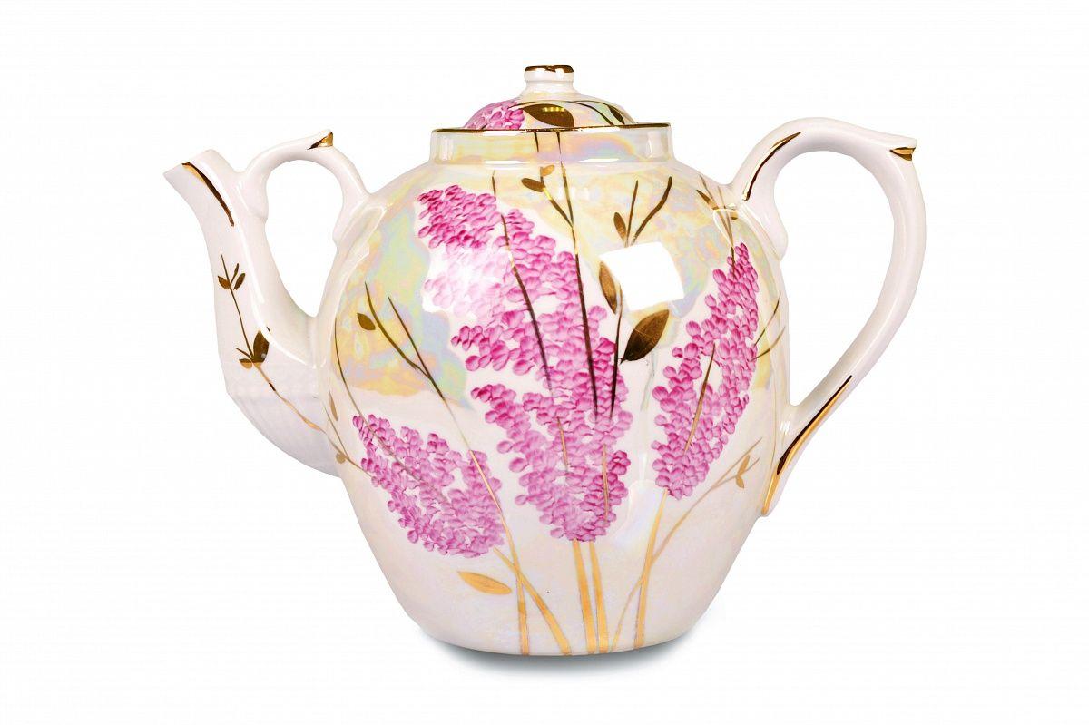Dulevo porcelain / Teapot 4500 ml Pink lilac