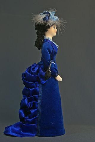Doll gift porcelain. Anna Karenina. 19th century. Russia