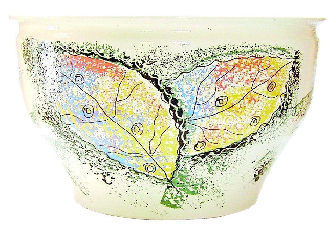 Tarusa artist / Glazed vase, with painting, 20l