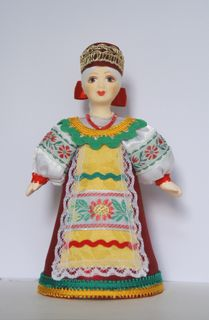 Doll gift porcelain. The South Of Russia.Girl in birthday suit.