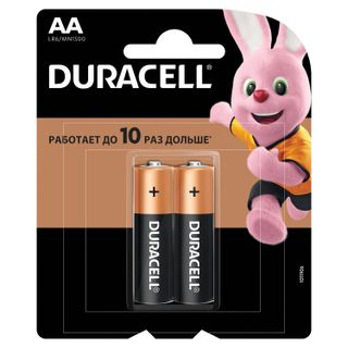 DURACELL / Batteries Basic, AA (LR06, 15A), alkaline, finger, blister, SET of 2 pcs.