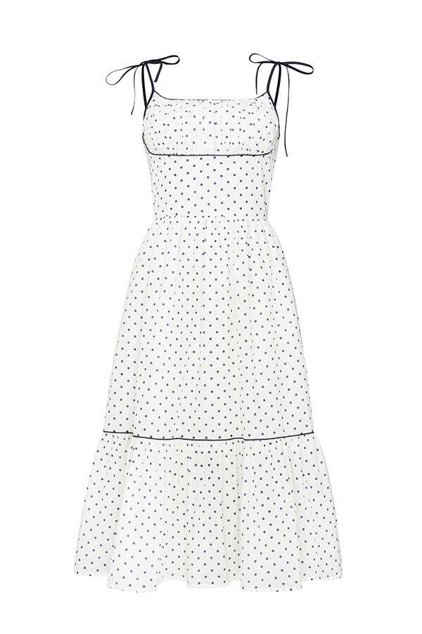 "Cotton dress with polka-dot print ""Norma"""
