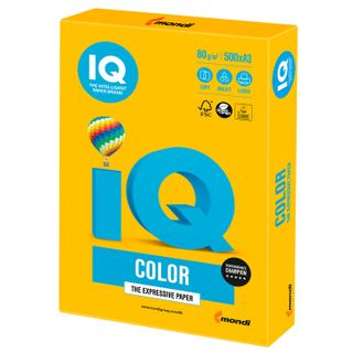Paper I'color BIG FORMAT (297 x420 mm), A3, 80 g/m, 500 sheets, intensive, sunny yellow