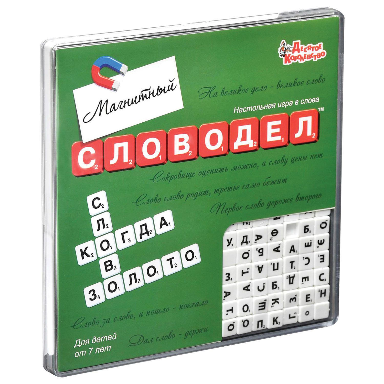 "Game board ""Word"" mini, 18-18 cm, magnetic, 10 KINGDOM"