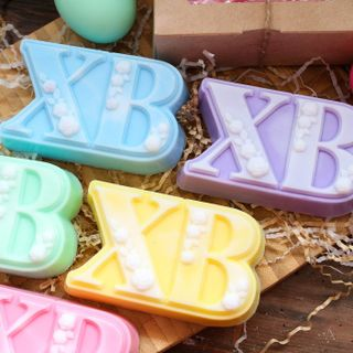Handmade soap for Easter olive XB - mix of colors