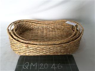 Basket oval wicker, 3 pcs