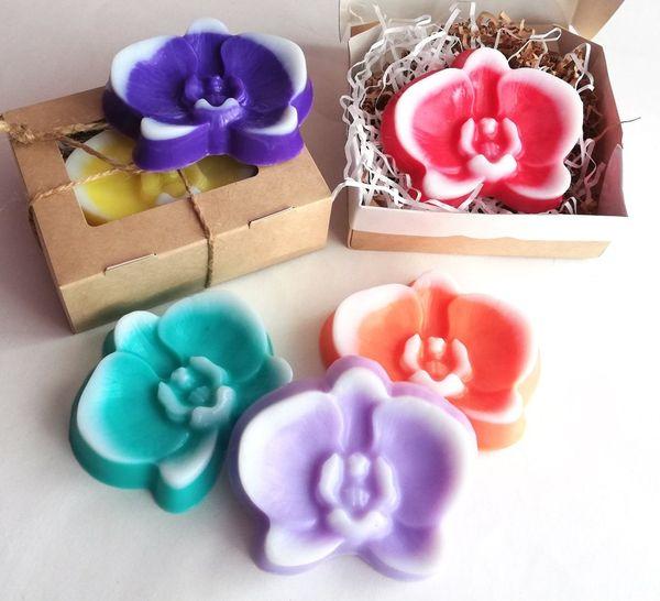 Handmade soap Orchid mix colors