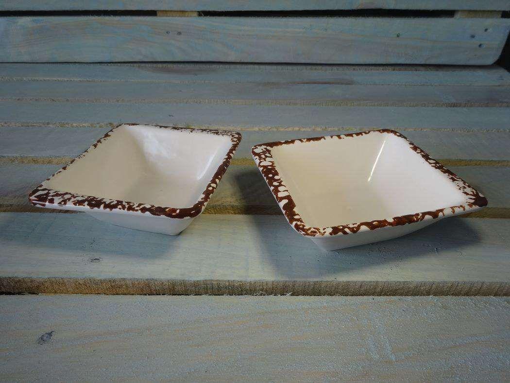 """Horeks / Salad """"Antica Perla"""" white rhombus 16 pcs."""