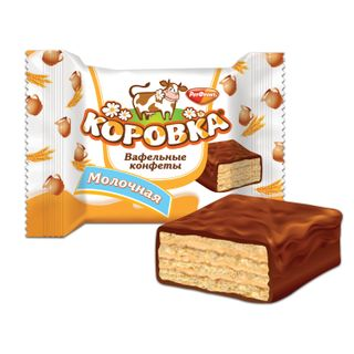 """ROT FRONT / Chocolate sweets """"Korovka"""", waffle with milk filling, 250 g, package"""